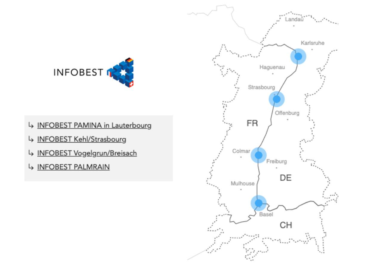 Les bureaux d'INFOBEST dans la région.