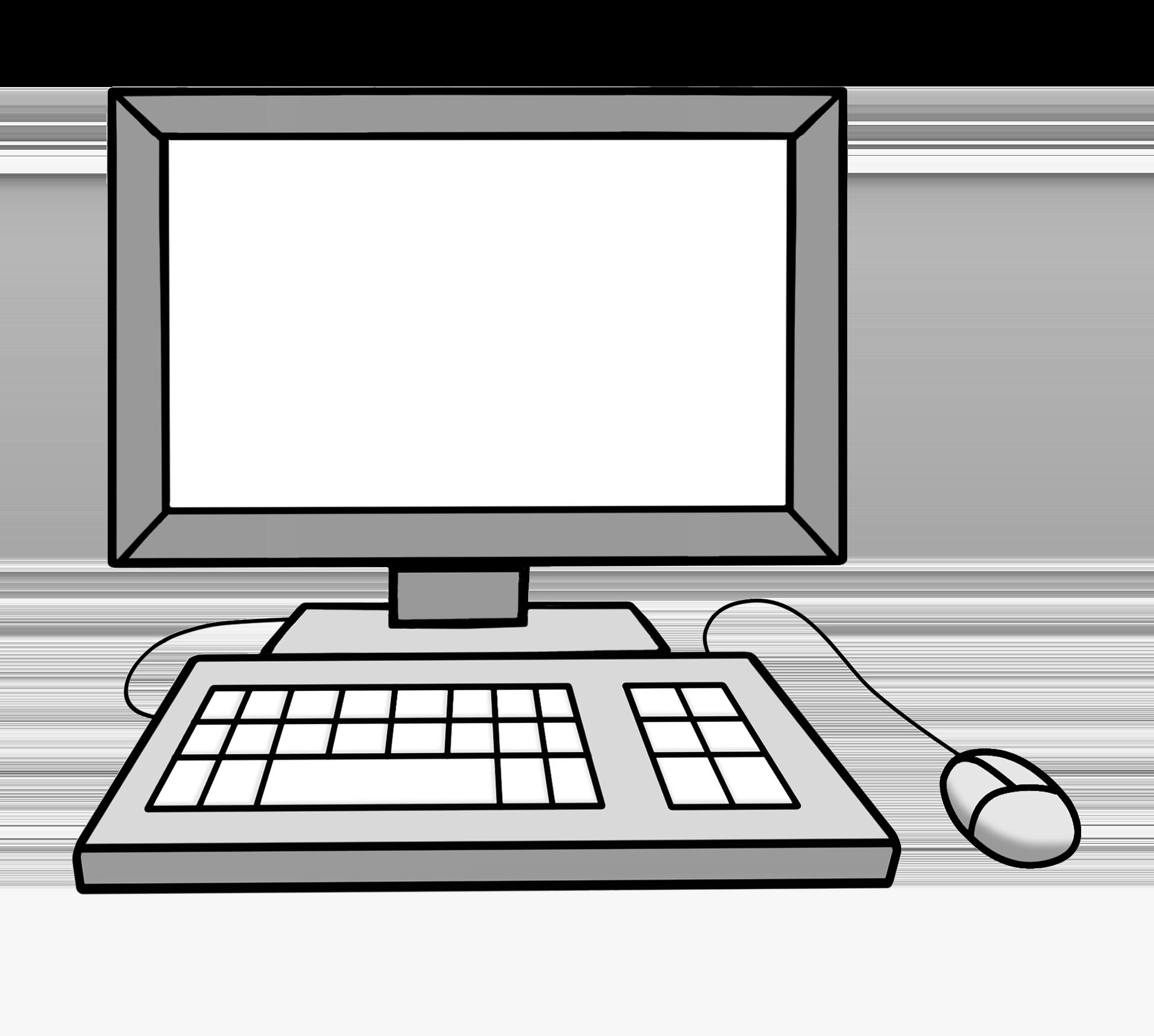 Computer mit Bildschirm