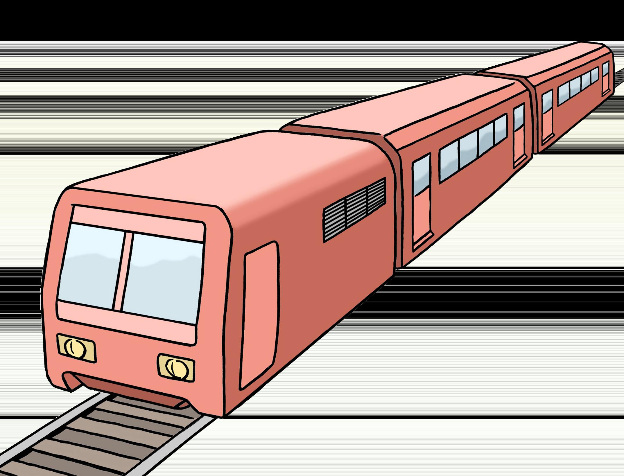 Zug auf einem Gleis